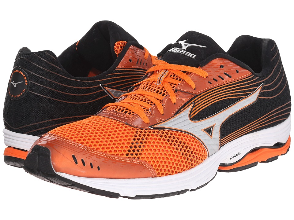 Mizuno - Wave Sayonara 3 (Vibrant Orange/Silver/Black) Men's Running Shoes
