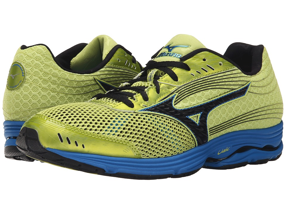 Mizuno - Wave Sayonara 3 (Wild Lime/Black/Directoire Blue) Men's Running Shoes