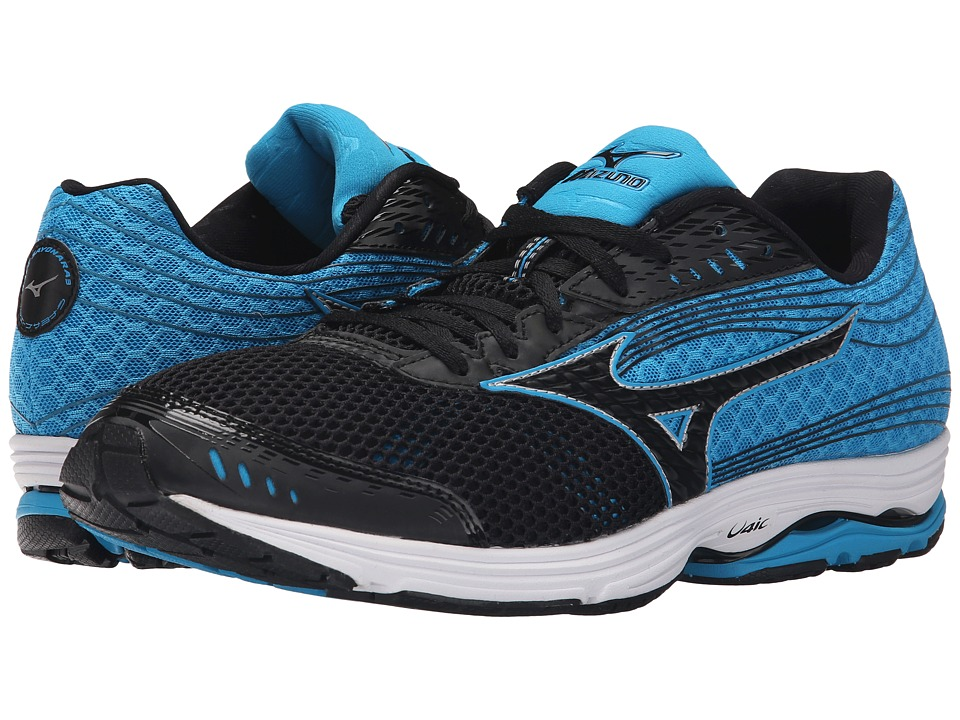 Mizuno - Wave Sayonara 3 (Black/Atomic Blue/Black) Men