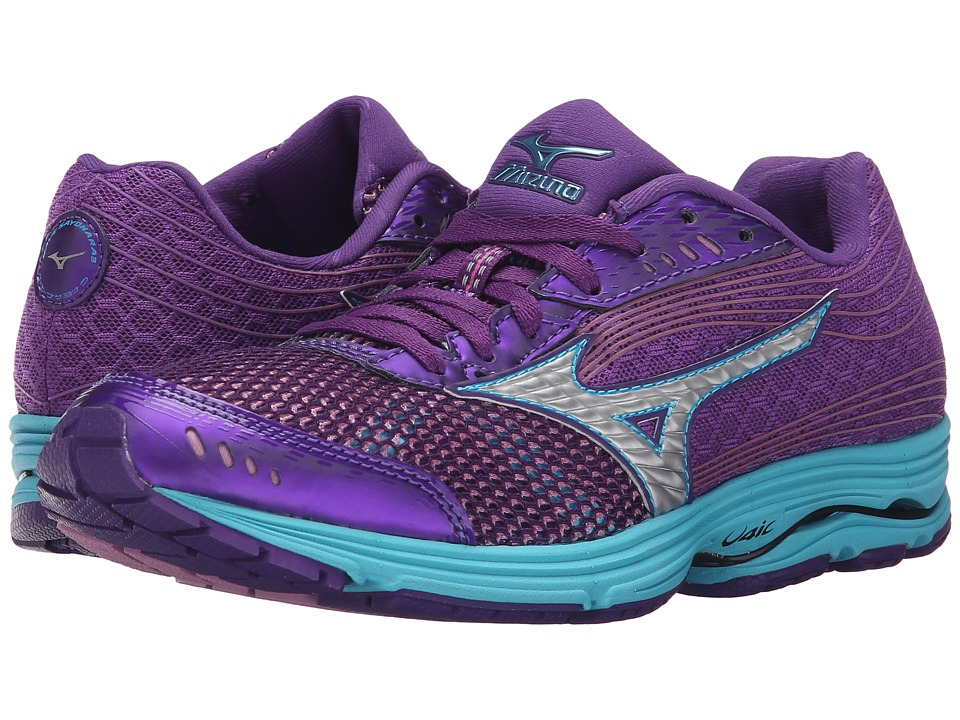 Mizuno - Wave Sayonara 3 (Royal Purple/Silver/Blue Atoll) Women's Running Shoes