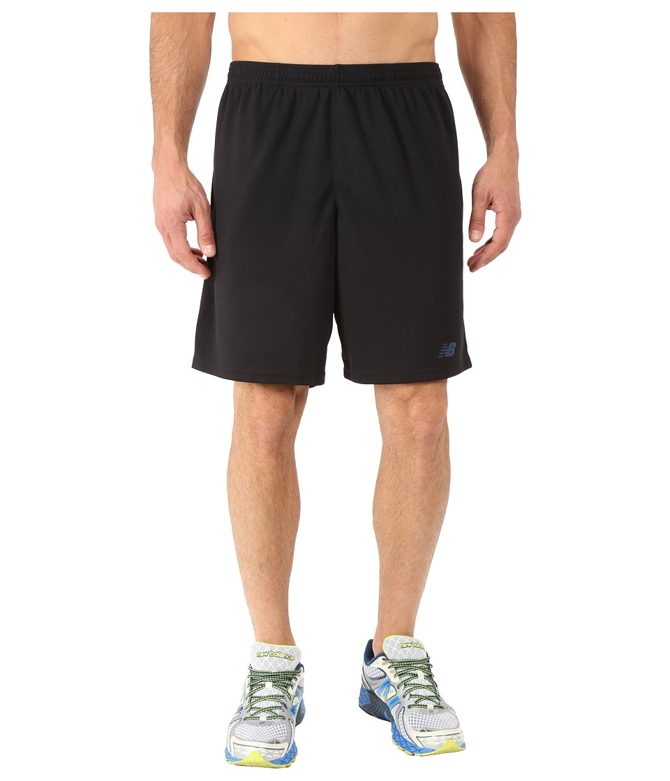 New Balance - Novelty Knit Shorts (Black/Flame) Men's Shorts