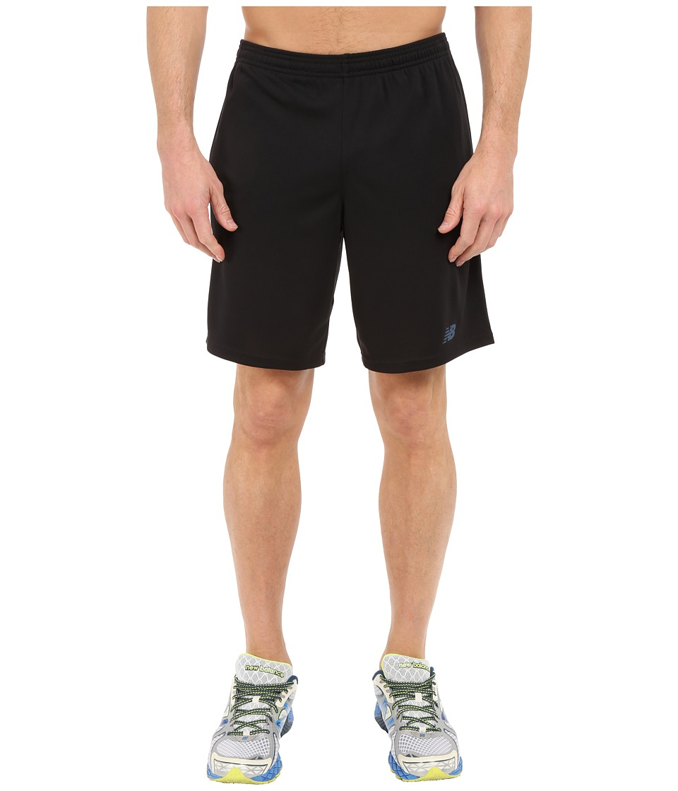 New Balance - Novelty Knit Shorts (Black/Blue) Men's Shorts