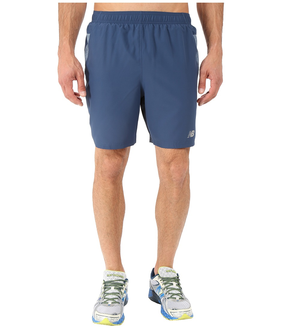 New Balance - 7 Woven Run Shorts (Gravity Black) Men's Shorts