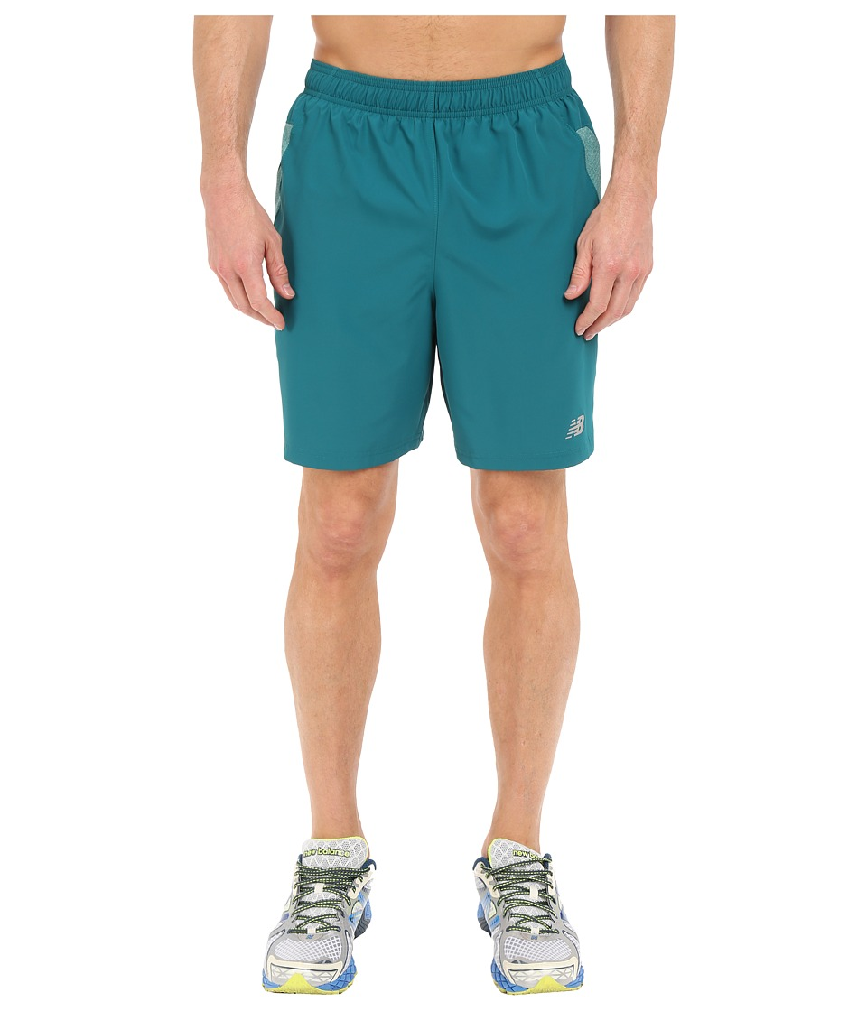 New Balance - 7 Woven Run Shorts (Juniper) Men's Shorts