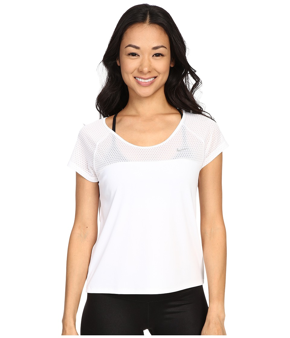 Nike Run Fast Running Top (White/Reflective Silver) Women