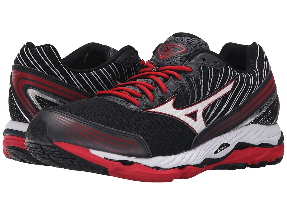 Mizuno - Wave Paradox 2 (Black/White/Chinese Red) Men's Running Shoes