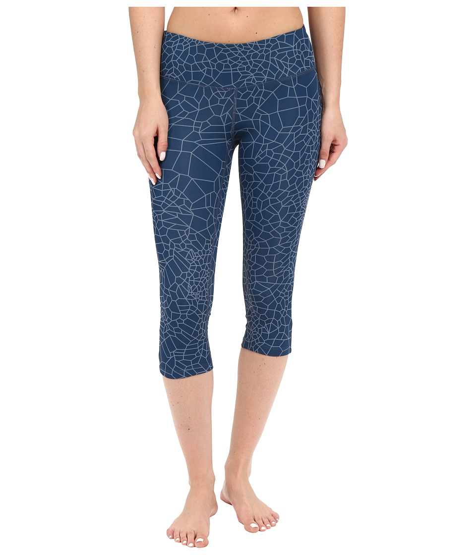 New Balance - Printed Performance Fashion Capris (Black Grey) Women's Capri