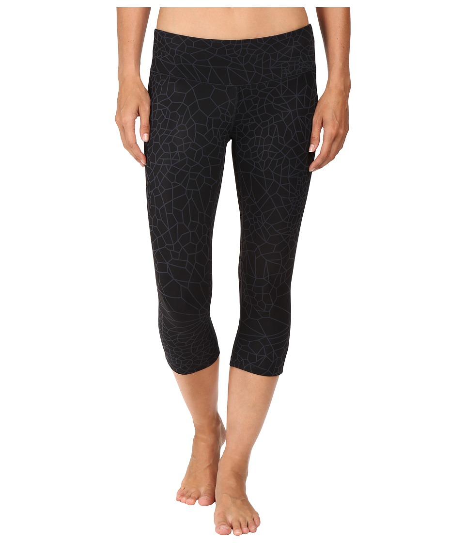 New Balance - Printed Performance Fashion Capris (Black) Women's Capri
