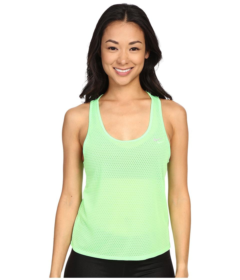 Nike - Run Fast Tank Top (Voltage Green/Reflective Silver) Women's Sleeveless