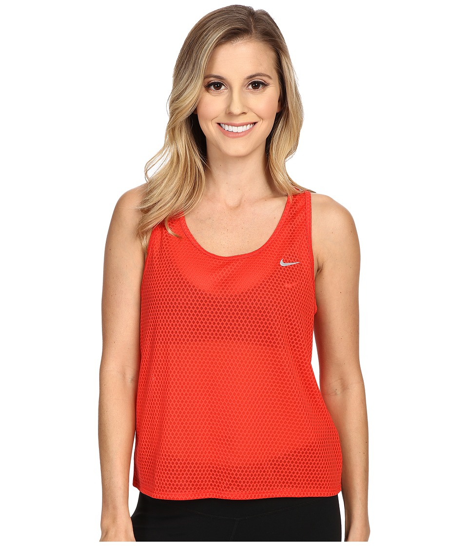 Nike - Run Fast Tank Top (Light Crimson/Reflective Silver) Women's Sleeveless