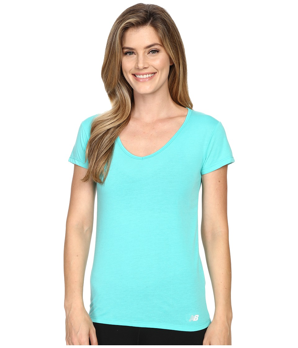 New Balance - SS Performance Top (Tidepool) Women's Short Sleeve Pullover