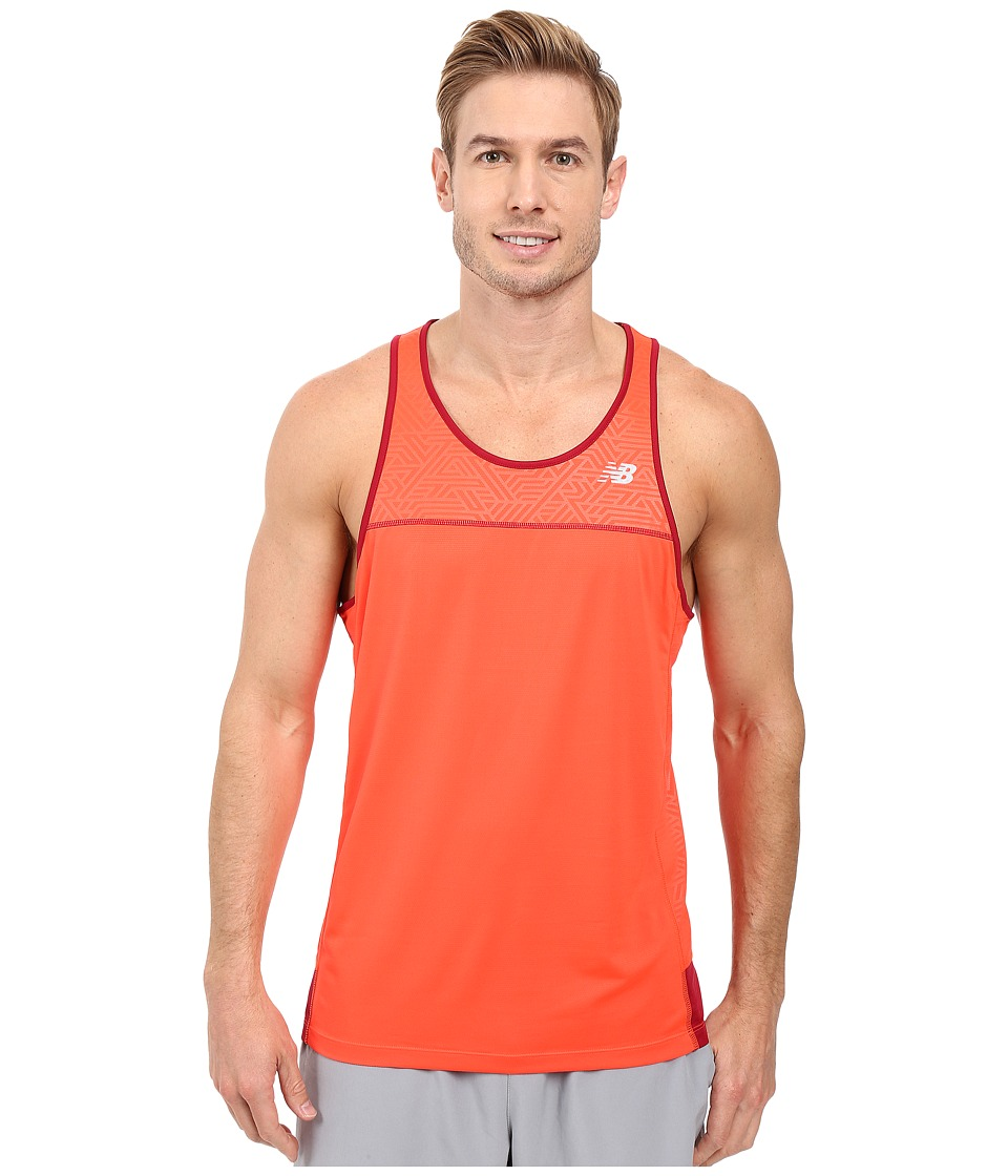 New Balance - Tech Run Singlet (Flame) Men's Workout
