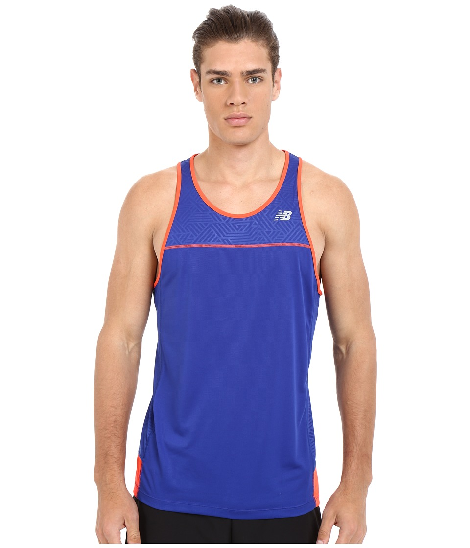 New Balance - Tech Run Singlet (Marine Blue) Men's Workout