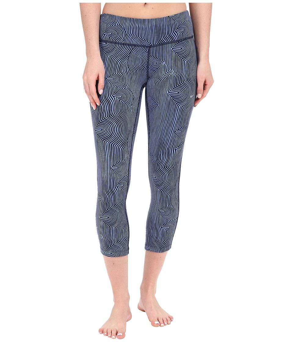 Nike - Zen Epic Run Crop Pants (Chalk Blue/Reflective Silver) Women's Workout