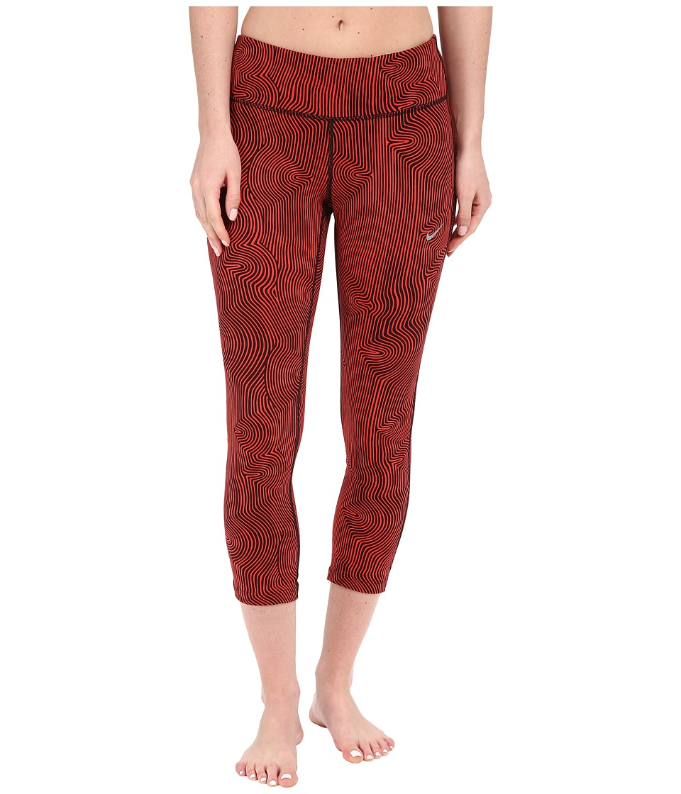 Nike - Zen Epic Run Crop Pants (Light Crimson/Reflective Silver) Women's Workout