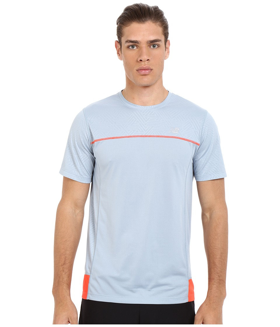 New Balance - Short Sleeve Tech Run Top (Cyclone) Men's Clothing