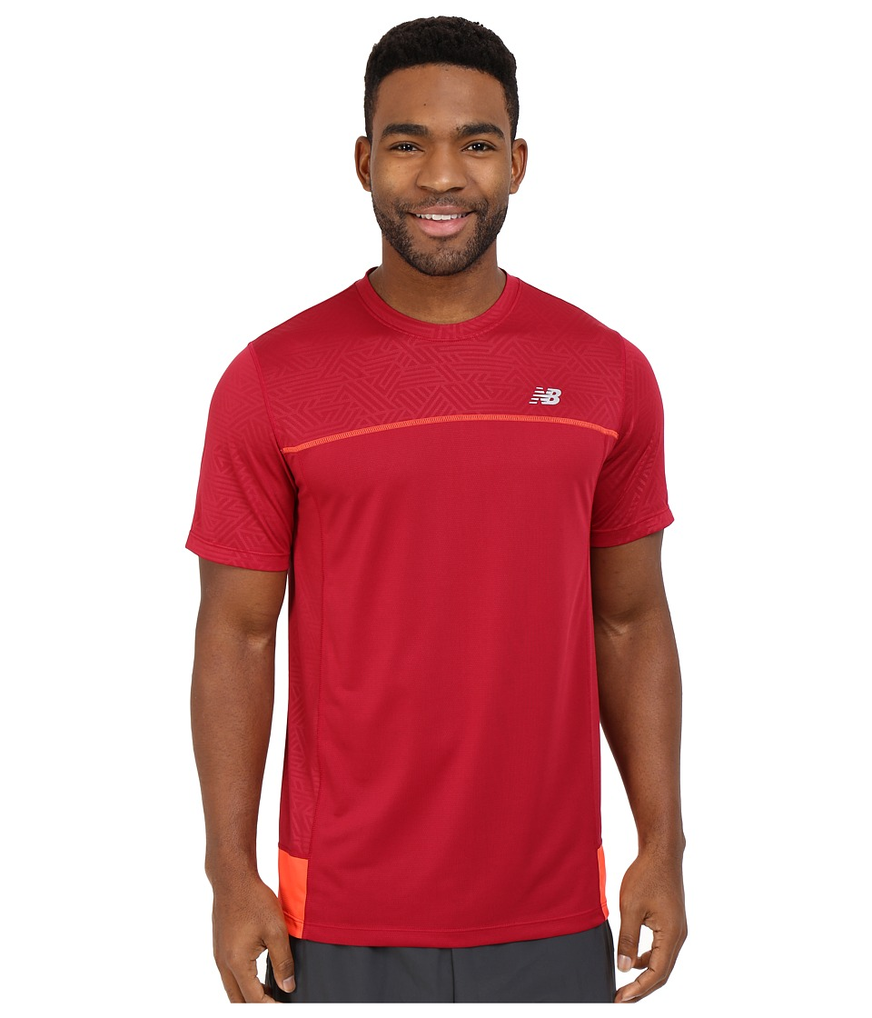 New Balance - Short Sleeve Tech Run Top (Horizon) Men's Clothing