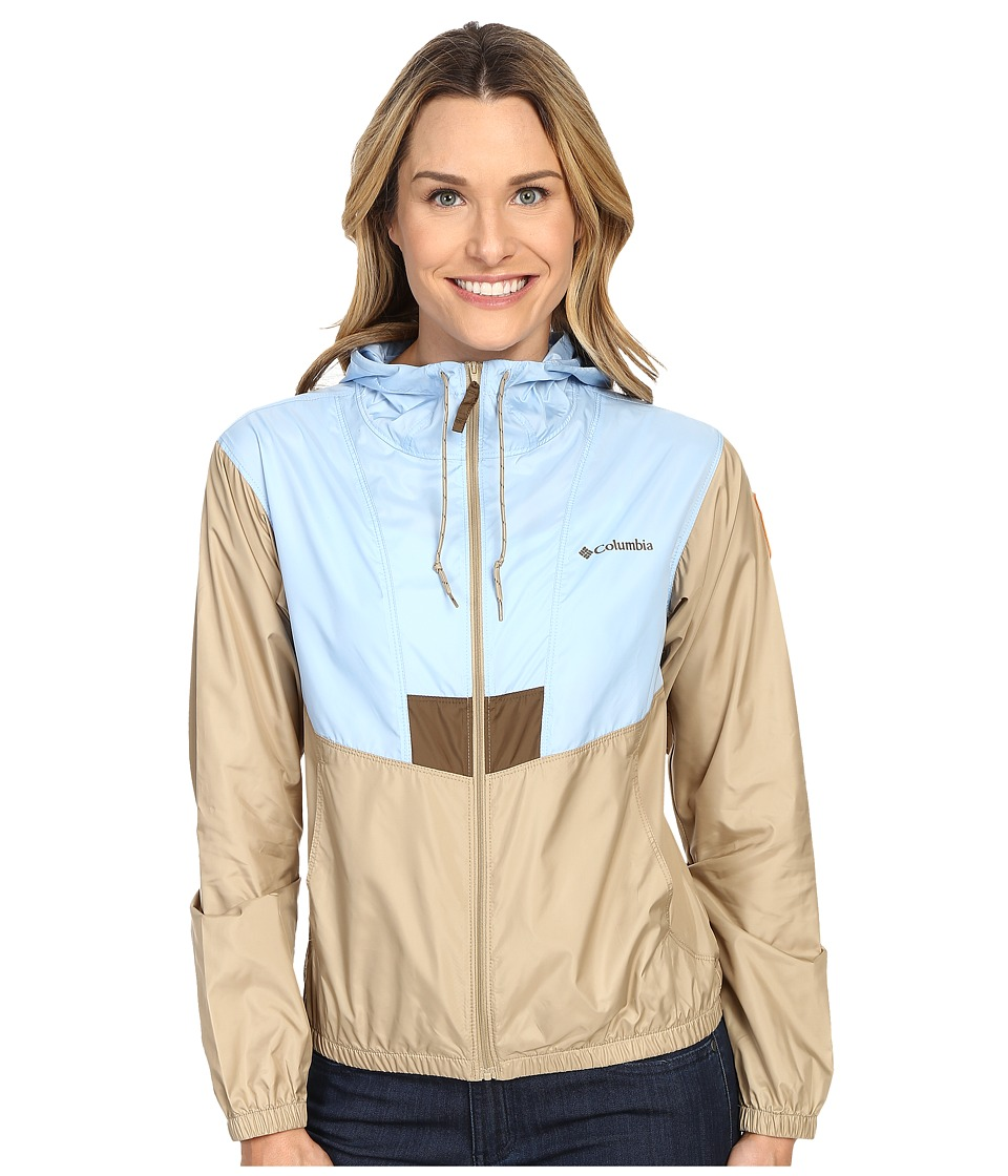 Columbia - Flashback Windbreaker Park Edition (Air/British Tan/Zion) Women's Coat