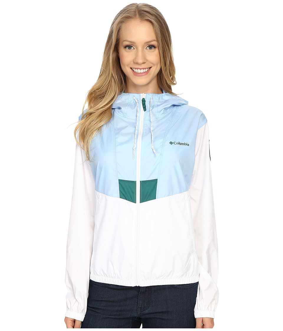 Columbia - Flashback Windbreaker Park Edition (White/Air/Acadia) Women's Coat