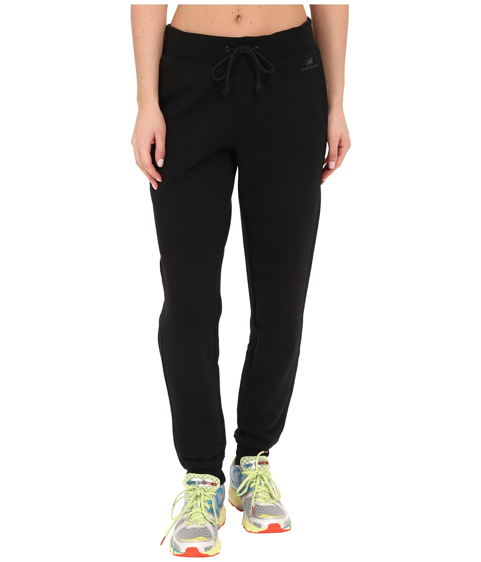 New Balance - Essentials Tapered Fleece Pants (Black) Women's Casual Pants