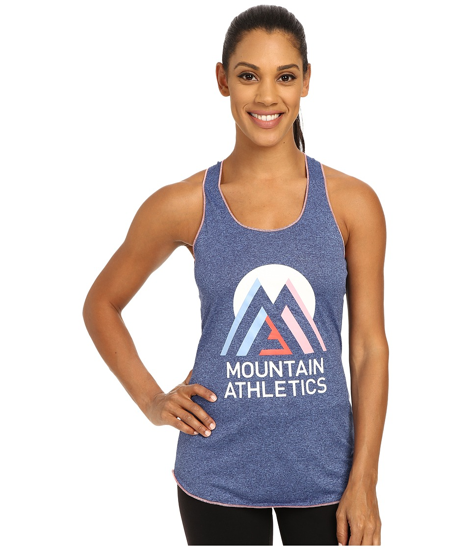 The North Face - Graphic Play Hard Tank Top (Patriot Blue Heather) Women's Sleeveless