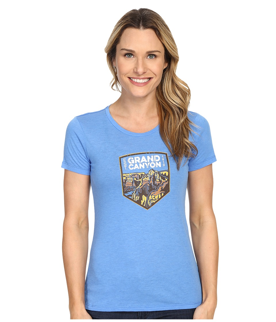 Columbia - National Parks Tee (Harbor Blue Heather/Grand Canyon) Women's T Shirt