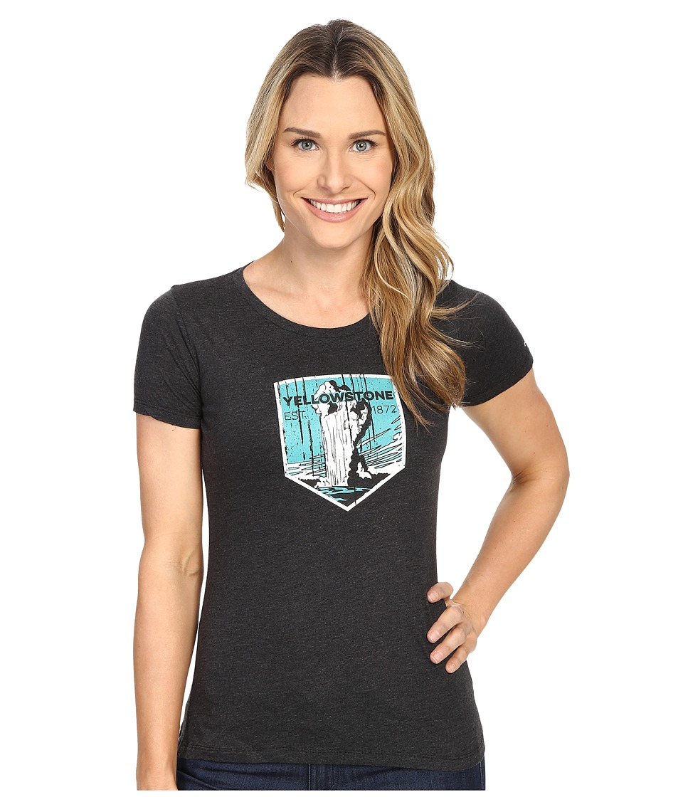 Columbia - National Parks Tee (Grey Heather/Yellowstone) Women's T Shirt