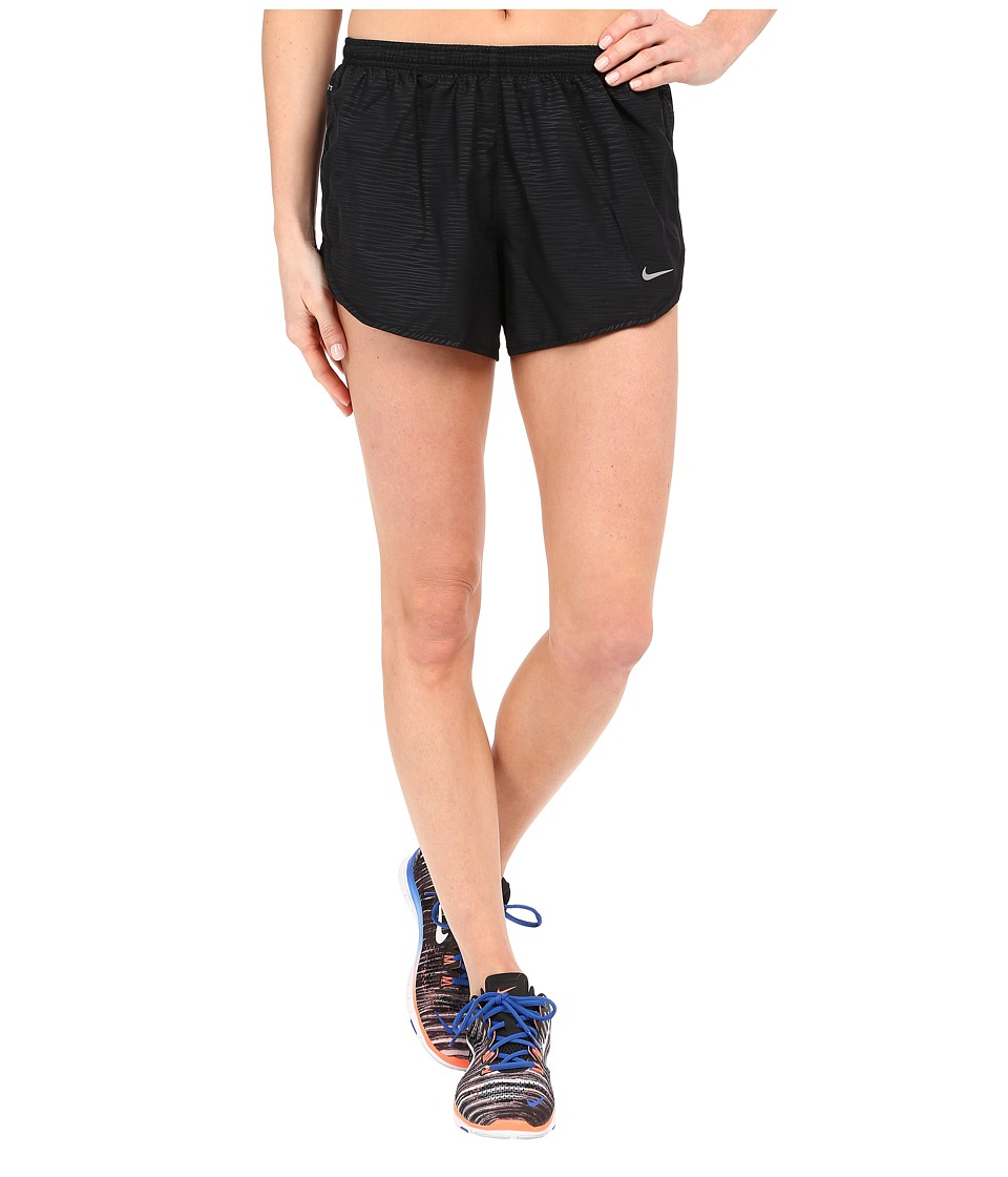 Nike - 3 Tempo Modern Embossed Running Short (Black/Reflective Silver) Women's Shorts