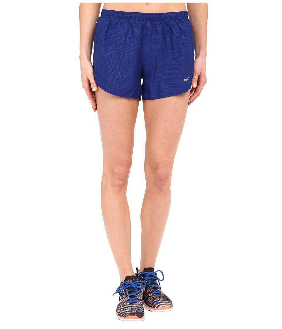 Nike - 3 Tempo Modern Embossed Running Short (Deep Royal Blue/Reflective Silver) Women's Shorts