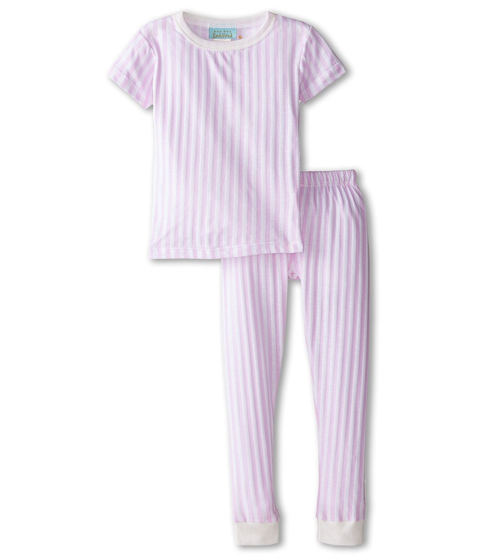 BedHead Kids - Short Sleeve Tee Pant Set (Infant) (Pink Stripe) Girl's Pajama Sets