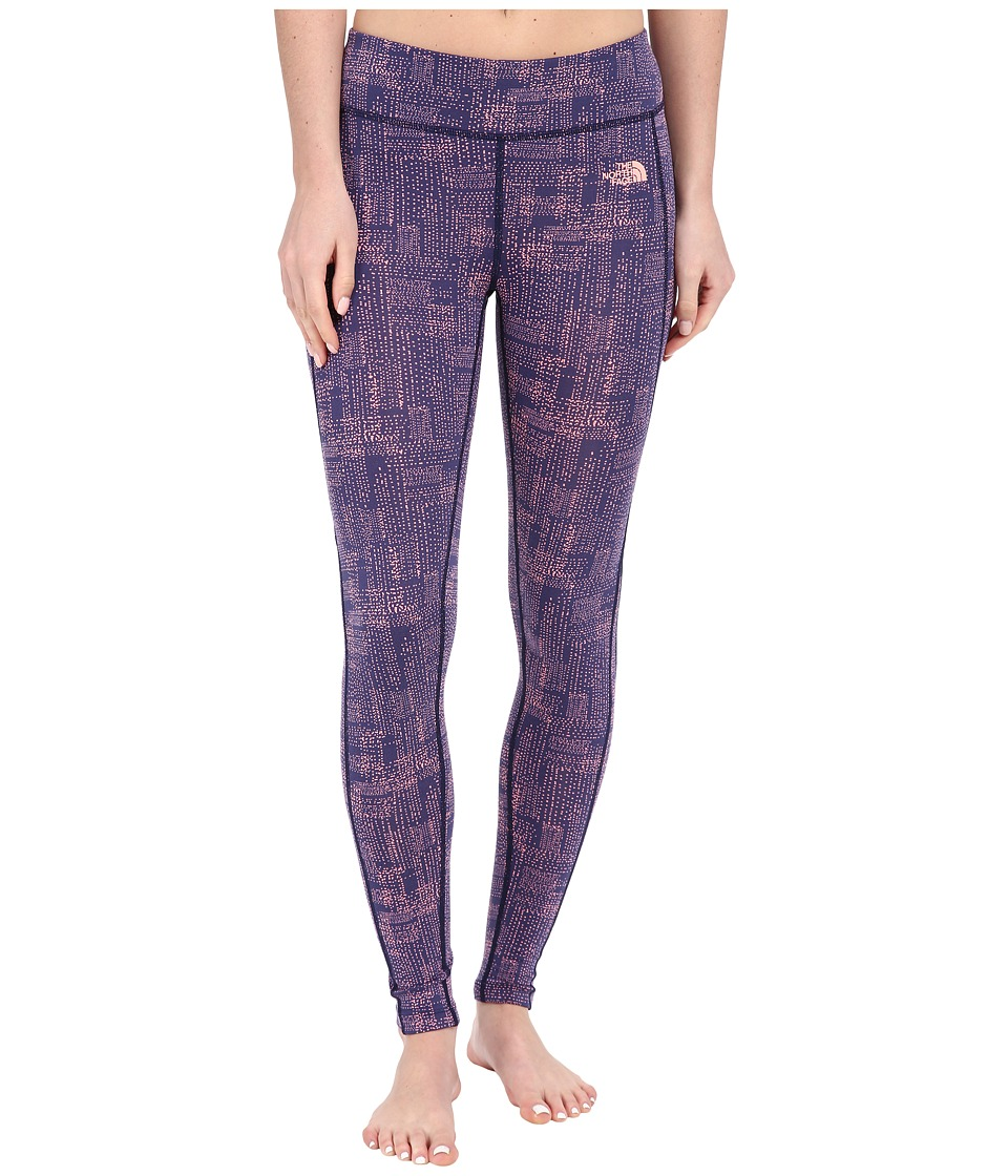 The North Face - Pulse Tight (Patriot Blue Rain Plaid Print) Women's Workout
