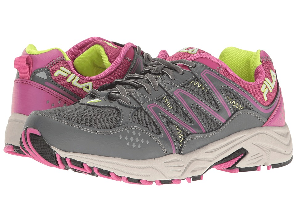 Fila - Headway 5 (Castlerock/Rose Violet/Safety Yellow) Women's Shoes