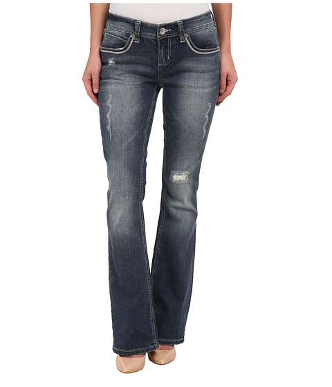 Seven7 Jeans - Thick Stitch Bootcut Jeans in Siren Blue (Siren Blue) Women