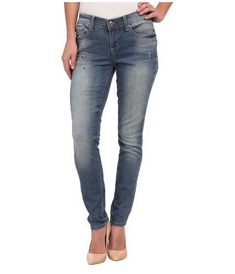 Seven7 Jeans - Embossed Skinny Jeans in Calvary Blue (Calvary Blue) Women's Jeans