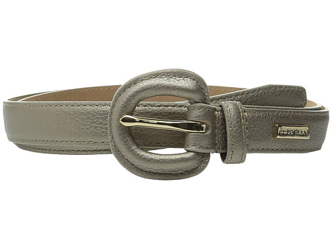 Cole Haan - 25mm Metallic Pebble Belt with Self Covered Buckle (Gold) Women's Belts