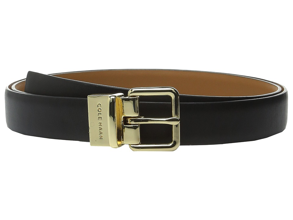 Cole Haan - 25mm Dress Calf Reversible Belt (Black) Women's Belts