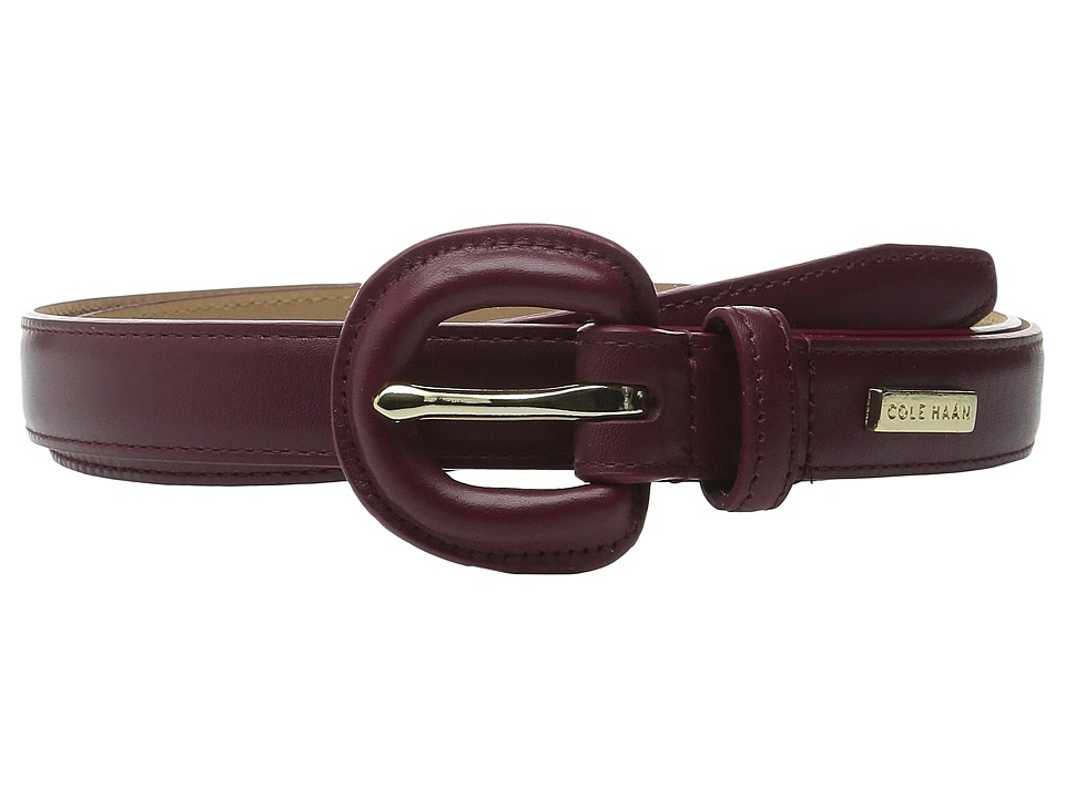 Cole Haan - 23mm Dress Calf Panel w/ Covered Buckle (Zinfandel) Women
