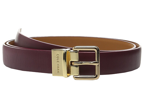Cole Haan - 25mm Dress Calf Reversible Belt (Zinfandel) Women's Belts