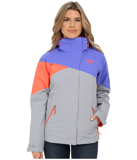 The North Face - Cinnabar Triclimate Jacket (Starry Purple/Mid Grey/Radiant Orange) Women
