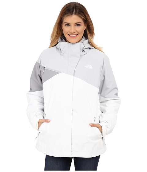 The North Face - Cinnabar Triclimate Jacket (High Rise Grey/TNF White/Mid Grey) Women's Coat