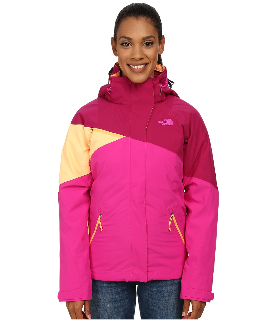 The North Face - Cinnabar Triclimate Jacket (Dramatic Plum/Luminous Pink/Impact Orange) Women's Coat