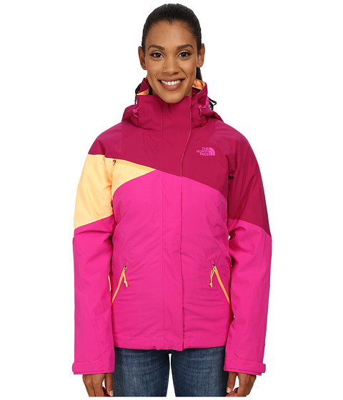The North Face - Cinnabar Triclimate Jacket (Dramatic Plum/Luminous Pink/Impact Orange) Women