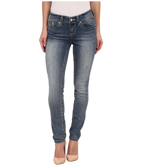 Seven7 Jeans - Skinny Jeans with Jewel Detail in Mesquite Blue (Mesquite Blue) Women