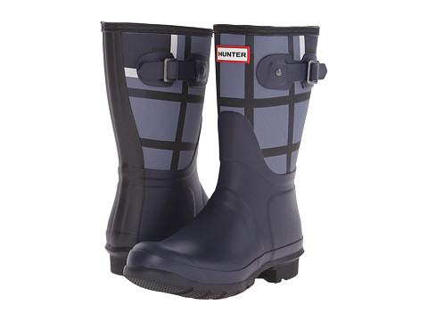 Hunter - Original Short Tartan (Mineral Blue/Midnight) Women's Rain Boots
