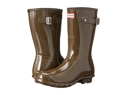 Hunter - Original Short Gloss (Swamp Green) Women's Rain Boots