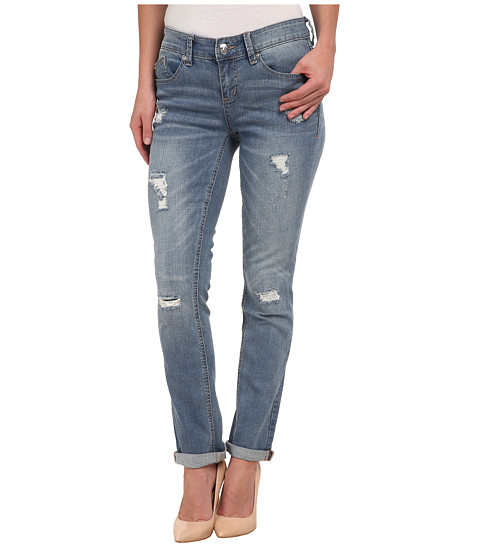 Seven7 Jeans - Rolled Slim Pants (Torn Blue) Women's Casual Pants