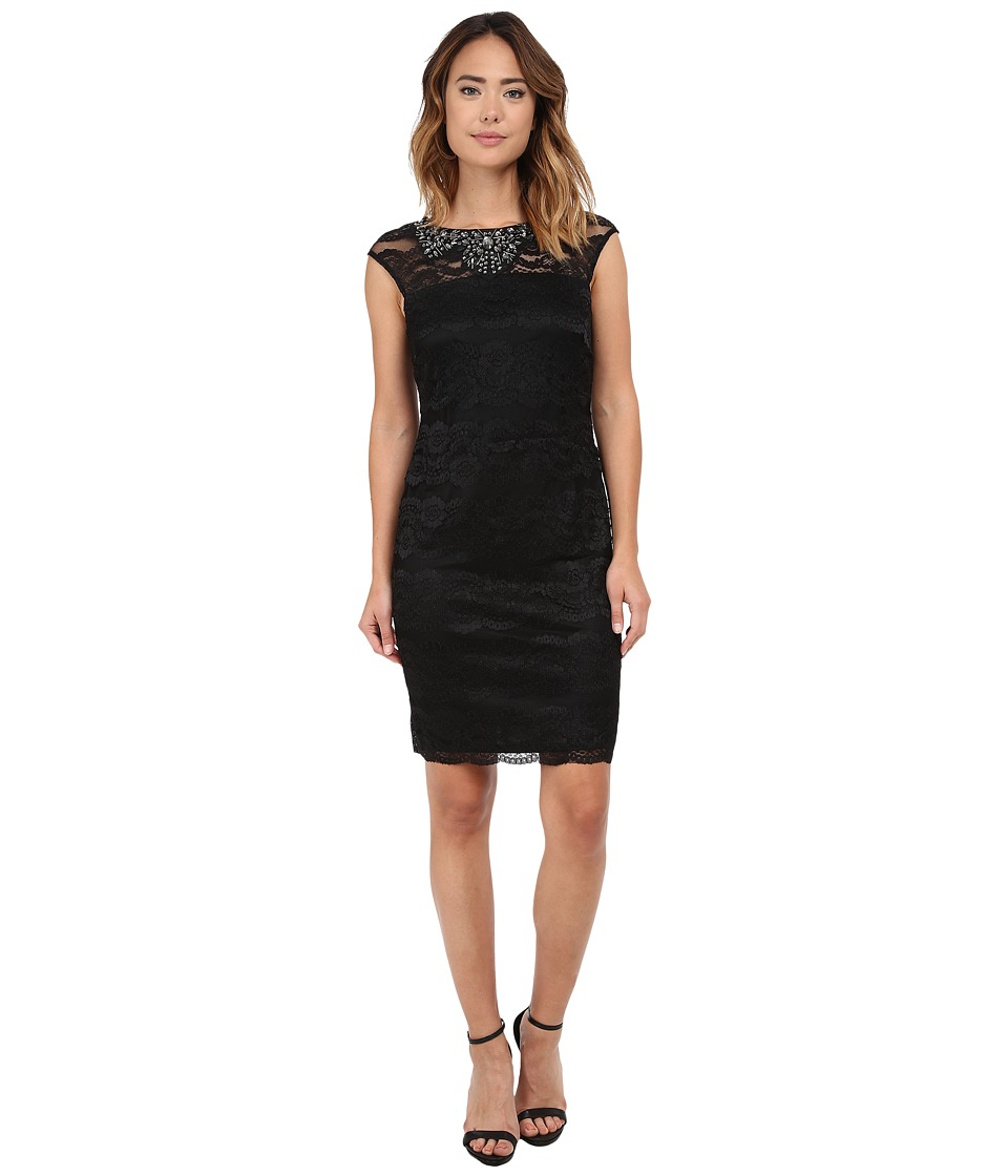 rsvp - Genevra Beaded Dress (Black) Women's Dress