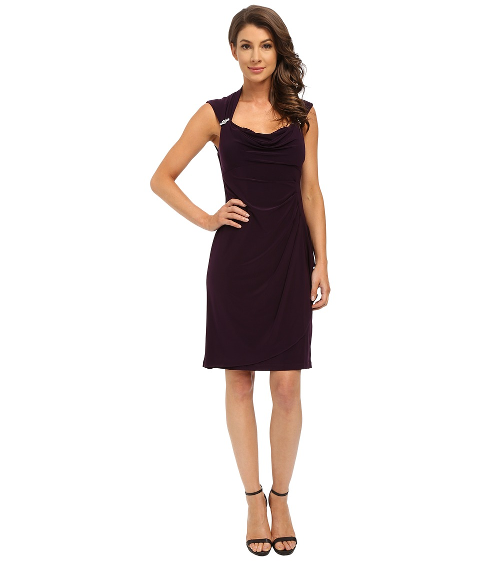rsvp - Mariella Dress (Eggplant) Women's Dress
