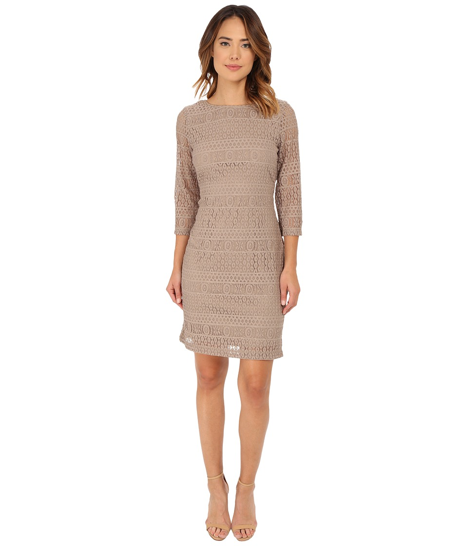 rsvp - Emma Lace Dress (Taupe) Women's Dress