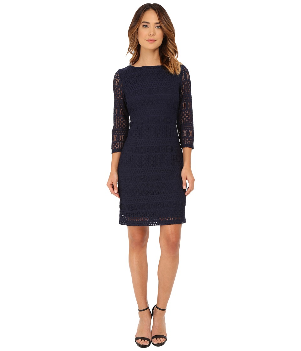 rsvp - Emma Lace Dress (Navy) Women's Dress